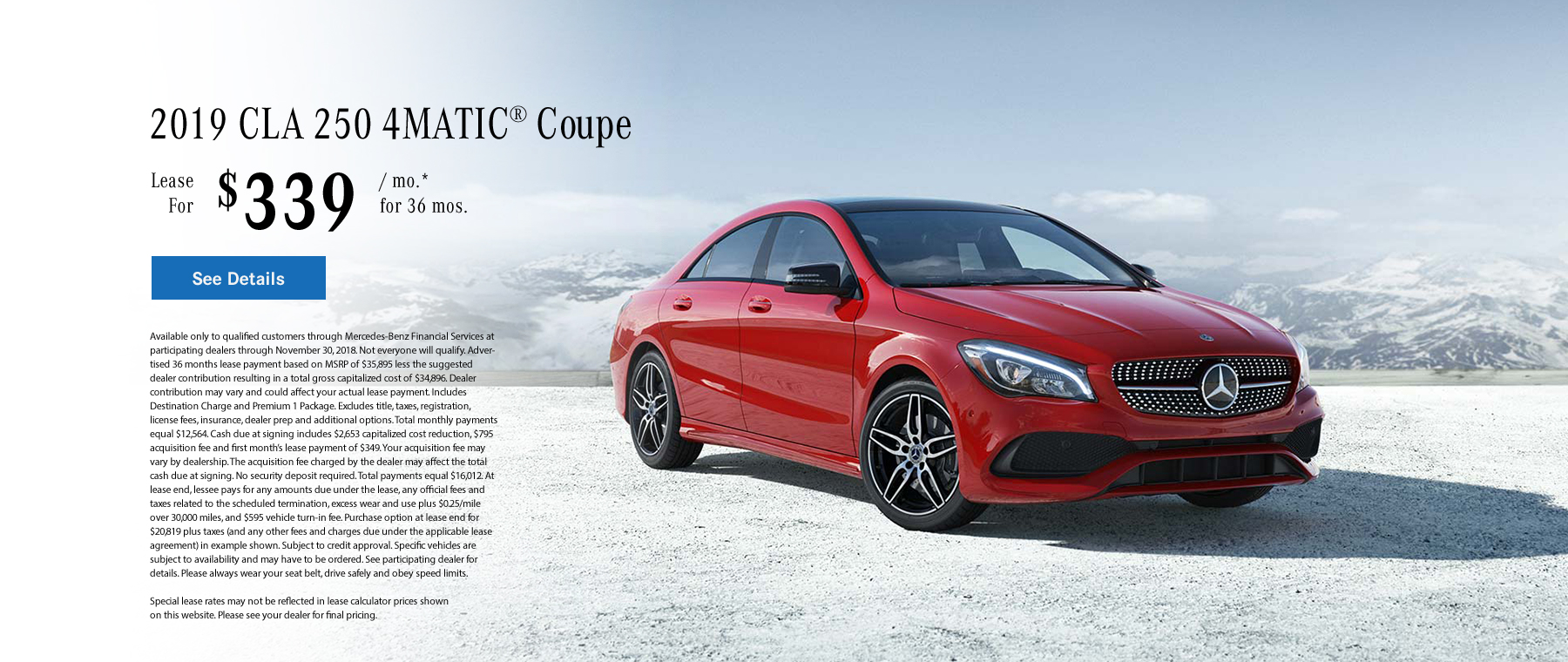 CLA 250 Special