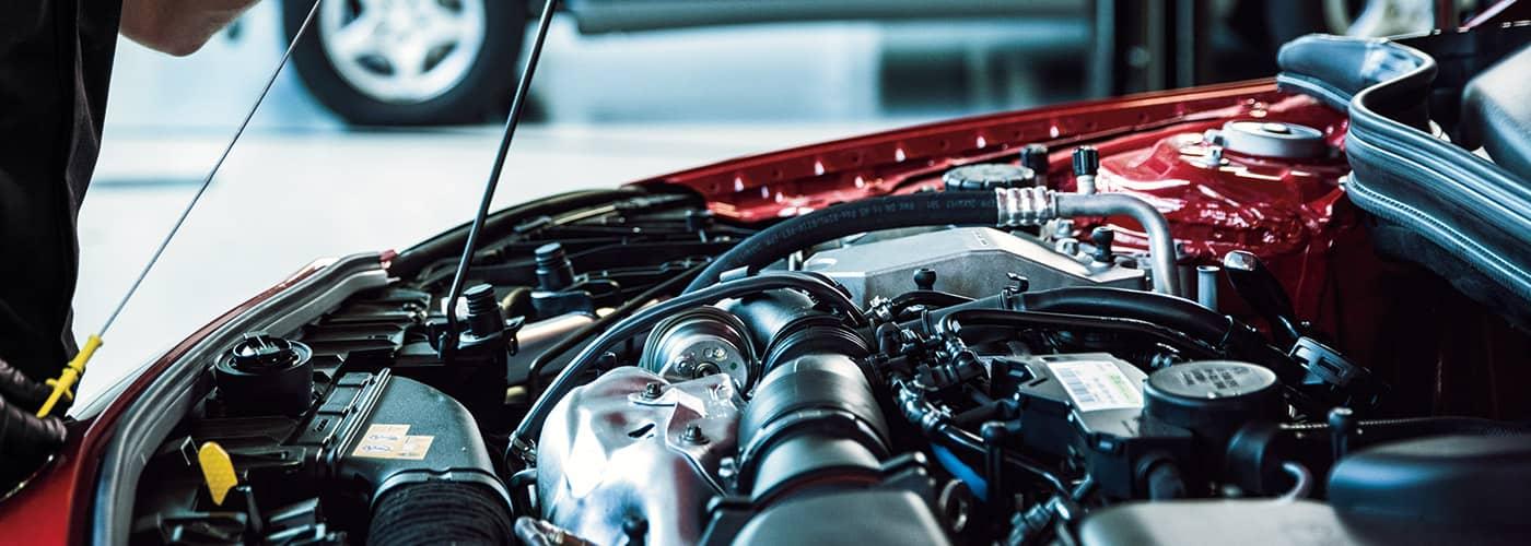 Mercedes-Benz Engine in service bay