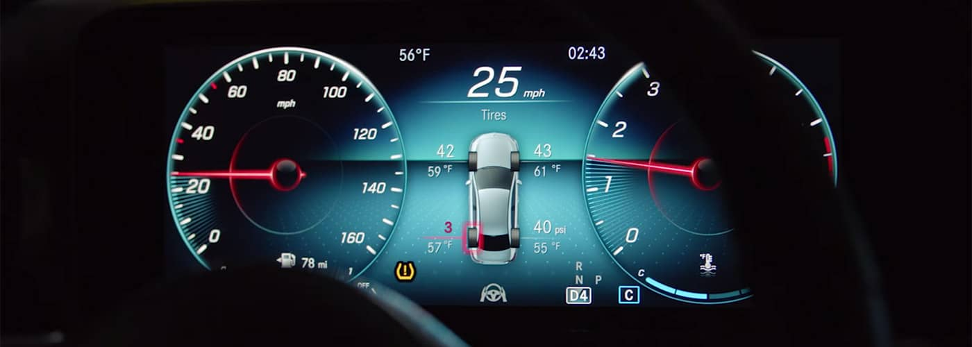 Mercedes-Benz Tire Pressure Monitoring System TPMS in action