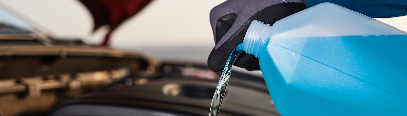 Adding antifreeze to a car