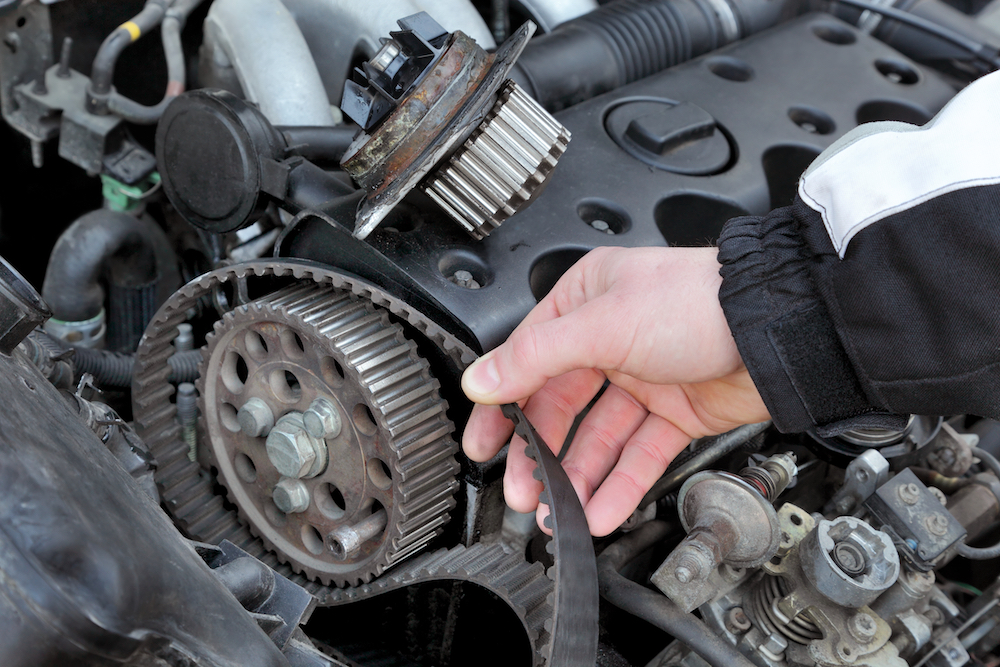 Timing belt in an engine
