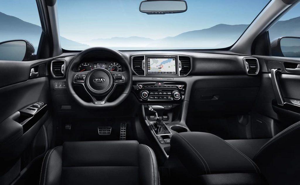 interior dashboard 2019 Kia Sportage