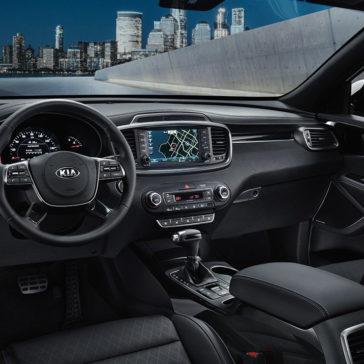 interior of 2019 Kia Sorento