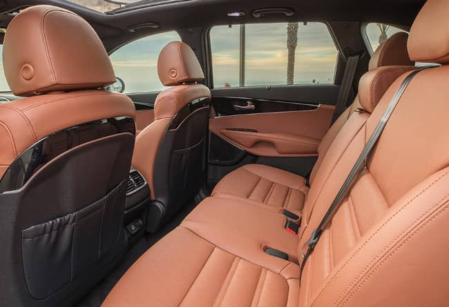 2019 Kia Sorento leather seats